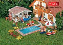 Faller 180542 Úszómedence és kerti faház