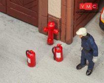 Faller 180950 Tűzoltókészülékek (6 db) és tűzcsapok (2 db) (H0)