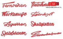 Faller 180962 Német üzletfeliratok és cégérek a 50-es évekből (H0)