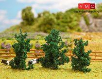 Faller 181306 Premium: Fenyőfa (3 db) talp nélkül, földig érő ágakkal, 50-70 mm