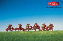 Faller 181476 Bokor (6 db), pirosan virágzó, 40 mm