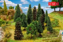Faller 181529 Vegyes erdő, 15 db lombos és fenyőfa, 70 - 90 mm (H0,TT)
