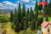 Faller 181530 Vegyes erdő, 30 db lombos és fenyőfa, 50 -120 mm (H0,TT)
