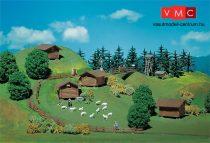 Faller 272531 Alpesi terménytárolók (4 db) és erdei kiegészítők