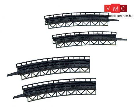 Faller 282905 Vasúti íves hídpálya készlet (4 db), R=195/R=225 30°