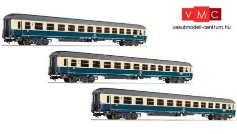 Fleischmann 481807 Személykocsi-készlet, 3-részes négytengelyes IC Riemenschneider II., DB