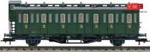 Fleischmann 507106 Oldalfellépős személykocsi fékházzal, C pr21, 3. osztály, SNCB (E3)