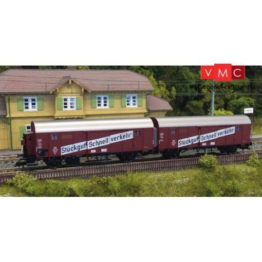 Fleischmann 530603 Fedett teherkocsi-egység fékházzal, Stückgut Schnellverkehr, DB (E3) (H0