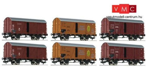 Fleischmann 533150 Fedett teherkocsi-készlet banánszállításhoz, 6 db GR20, DRG/DB (E2-3)