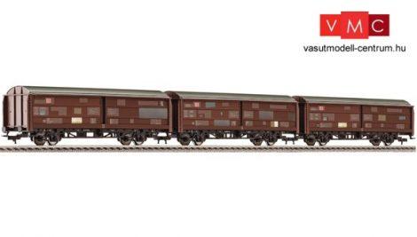 Fleischmann 533709 Eltolható oldalfalú teherkocsi-készlet, 3-részes Hbis299, DB-AG (E5) (H0