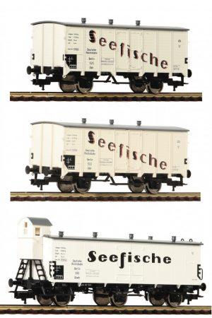 Fleischmann 538101 3-tlg. Güterwagenset Seefische, DRG