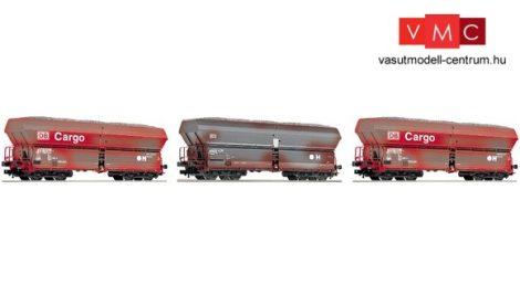 Fleischmann 552316 Önürítős négytengelyes teherkocsi-készlet, 3-részes Falns183, DB-AG (