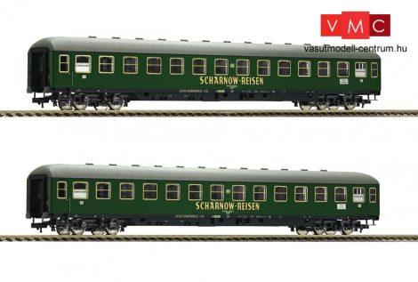 Fleischmann 560202 Fekvőhelyes négytengelyes személykocsi-pár, Bc4üm, zöld, Scharnow Reis