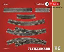 Fleischmann 6192 Sínkészlet D, párhuzamos vágányok kiegészítés - Fleischmann Profi