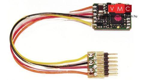 Fleischmann 685403 Mozdonydekóder, 6-tűs vezetékes csatlakozóval (NEM 651), DCC