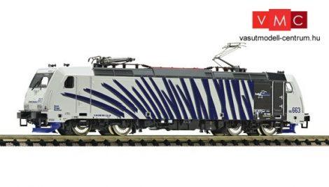 Fleischmann 738803 Villanymozdony BR 185.2, kék csíkokkal, Lokomotion (E6)