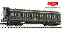 Fleischmann 804305 Oldalfellépős négytengelyes személykocsi fékházzal, C4 pr04, 3. osztály, DRG (E2) (N)