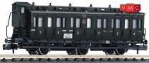 Fleischmann 806504 Oldalfellépős háromtengelyes személykocsi fékházzal, 2./3. osztály, D