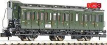 Fleischmann 807001 Oldalfellépős háromtengelyes személykocsi fékházzal, 2. osztály, DB (