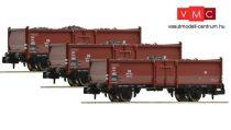 Fleischmann 820530 Nyitott teherkocsi készlet, 3-részes Omm52, szén rakománnyal, DB (E3)