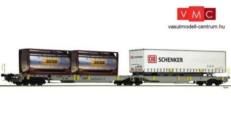 Fleischmann 825004 Konténerszállító iker-zsebeskocsi, Sdggmrs25 - T2000, AAE, Bertschi / DB-Scenker (E6) (N)