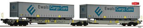 Fleischmann 825008 Konténerszállító iker-zsebeskocsi, Sdggmrs25 - T2000, AAE, EWALS Cargo f