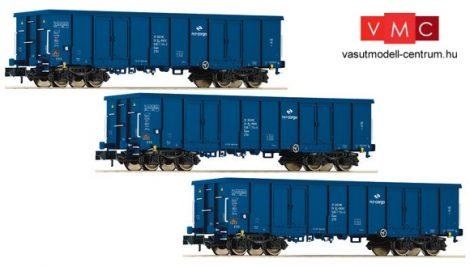 Fleischmann 828342 Nyitott négytengelyes teherkocsi, 3-részes Eaos, PKP-Cargo (E6) (N)