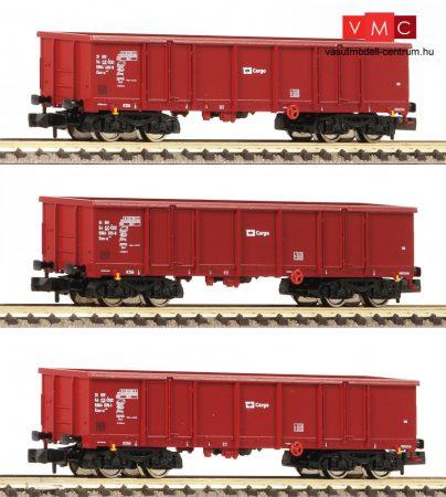Fleischmann 828343 3-tlg. Set: Offene Güterwagen Bauart Eas, ČD Cargo