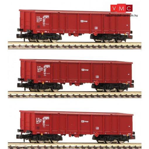 Fleischmann 828343 Nyitott négytengelyes teherkocsi-készlet, 3-részes Eas, CD-Cargo (E6) (N)