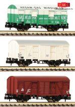 Fleischmann 831603 3-tlg. Set gedeckte Güterwagen Bauart Gs, NS