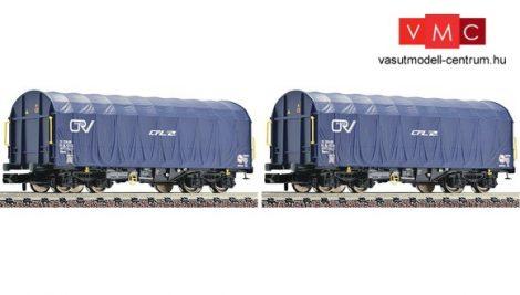 Fleischmann 837914 Ponyvás négytengelyes teherkocsi-pár, Shimms, CFL-Cargo (E6)