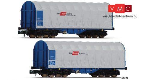 Fleischmann 837924 2-tlg. Set Schiebeplanenwagen Bauart Shimms, ÖBB Rail Cargo Austria