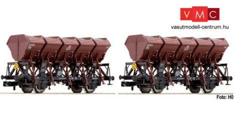 Fleischmann 845103 Önürítős kőszállító teherkocsi-pár, Ommi, DB (E3)