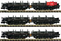 Fleischmann 845513 Nehézteherszállító hattengelyes rakoncás teherkocsi-készlet, 3-részes
