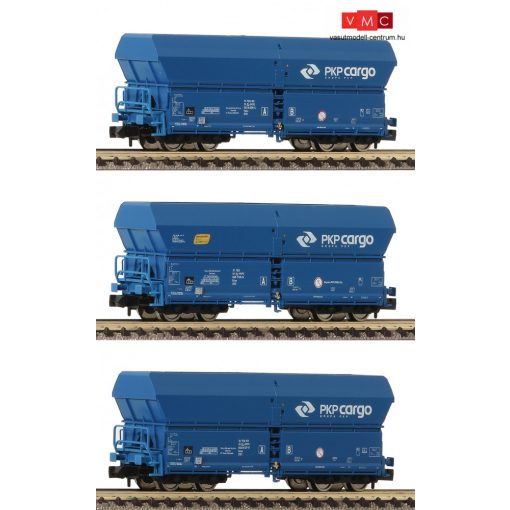 Fleischmann 852328 Önürítős négytengelyes teherkocsi-készlet, 3-részes Falns, PKP Cargo