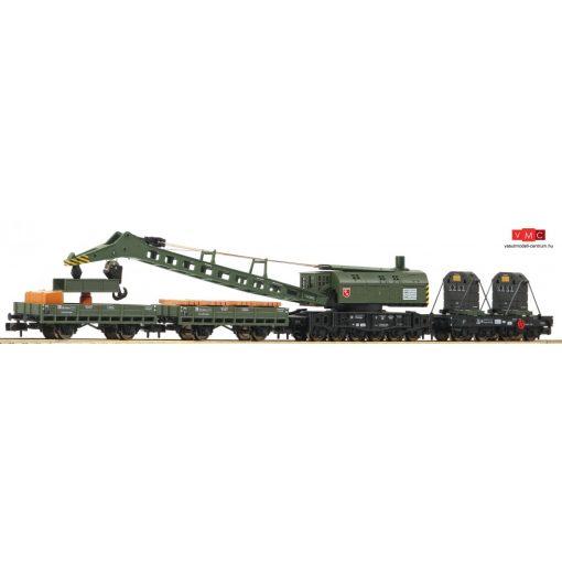 Fleischmann 859902 Vasúti daru, gémtartó kocsival és szerkocsikkal, DB (E3-4)