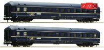 Fleischmann 864708 Hálókocsi-pár, négytengelyes WLABm 174, DB (E4) (N)