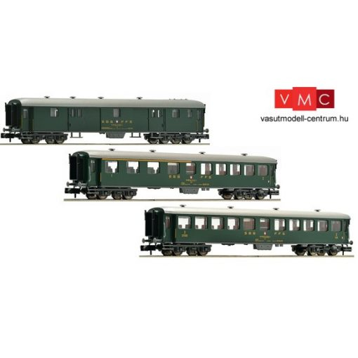 Fleischmann 881813 Gyorsvonati négytengelyes személykocsi-készlet pogyászkocsival, 3-része
