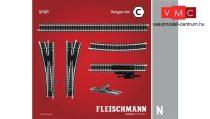 Fleischmann 9190 Sínkészlet C, rendezővágányok kiegészítés (N)