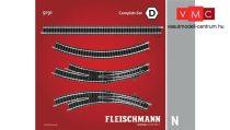 Fleischmann 9191 Sínkészlet D, párhuzamos vágányok kiegészítés (N)