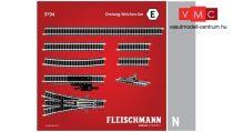 Fleischmann 9194 Sínkészlet E, hármasváltó kiegészítés (N)