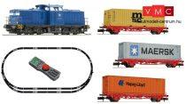 Fleischmann 931882 Digitális kezdőkészlet: BR 204 dízelmozdony konténerszállító tehervo