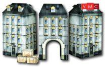 Heki 10070 Városi emeletes lakóház nagy kapuval, kartonból