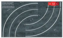 Heki 12061 Országút kanyarokkal (3 db) kartonból