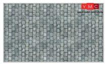 Heki 12072 Nagyszemű kockakő útburkolat (3 db) kartonból