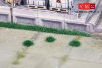 Heki 1822 Fűcsomók (100 db) és 6 db fűcsík (10 cm/db), 2,5 mm magas, sötétzöld