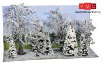 Heki 2101 Téli erdő, 10 db havas lombos és fenyőfa, 7-14 cm