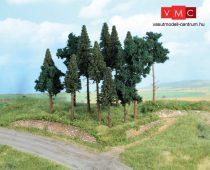 Heki 2264 Fenyőerdő, 14 db fenyőfa, 10-17 cm (H0)