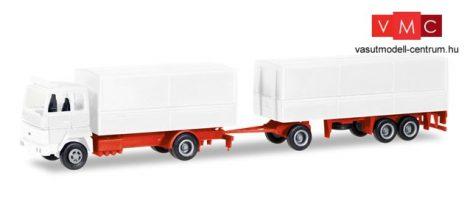 Herpa 013192 Minikit - Ford Transconti ponyvás teherautó, pótkocsival - felirat nélkül (H0