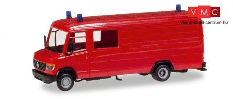 Herpa 013260 Minikit - Mercedes-Benz Vario, dobozos tűzoltó, GW-A/S, piros (H0)